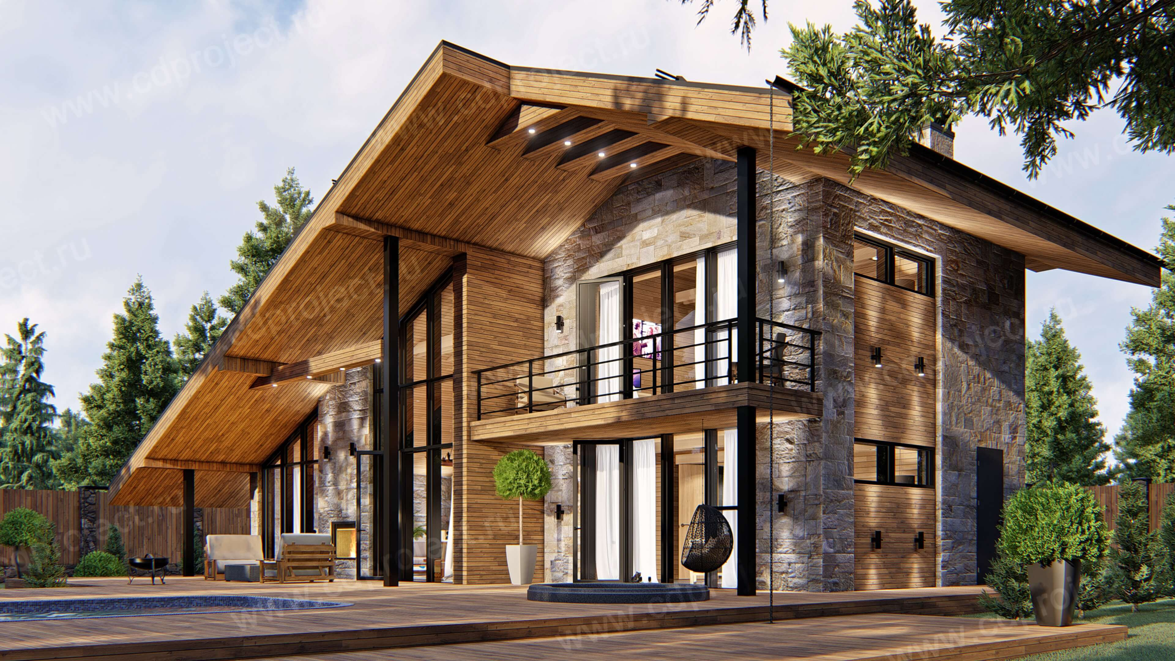Крыши домов из металлочерепицы варианты фото эстетического, волдыри