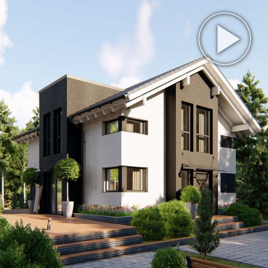 Country house project in Krasnogorsk