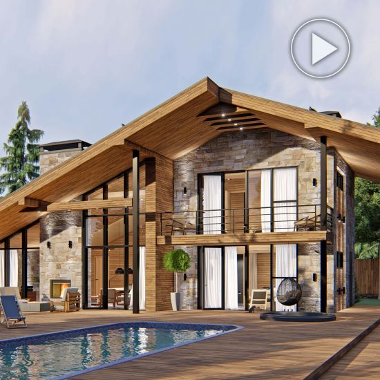 Chalet style country house project